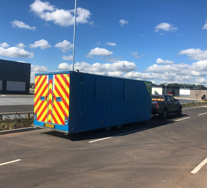 Towable units available from Site Movements UK