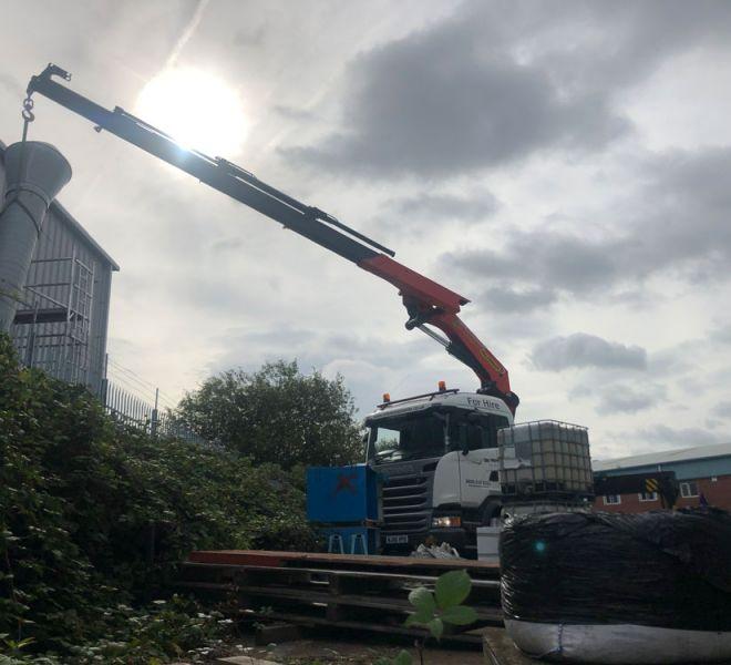 HIAB crane hire Bury