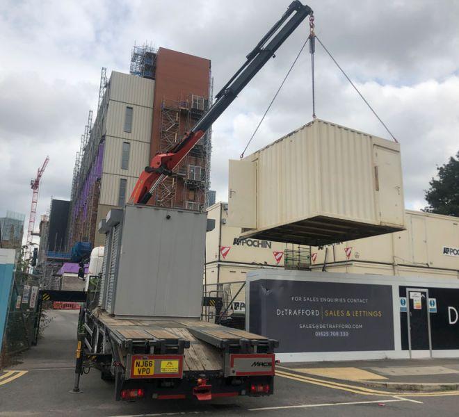 HIAB crane lifting manchester
