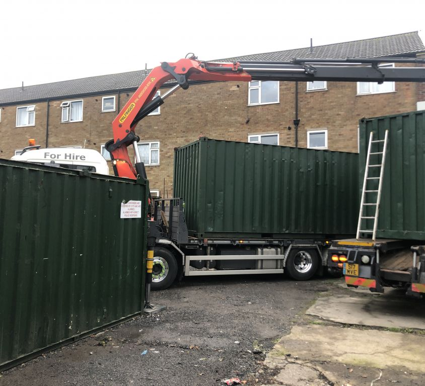 20ft Container delivery in Bury