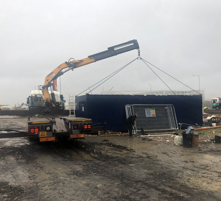 Site Container Hire transported to Newcastle