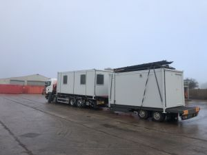 site set up with towable units