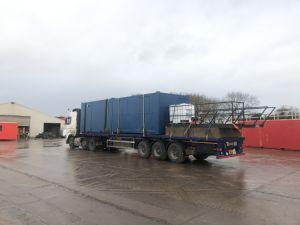 containers on site in Longridge