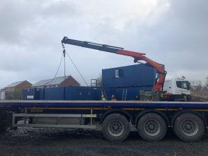 Welfare unit set up on site