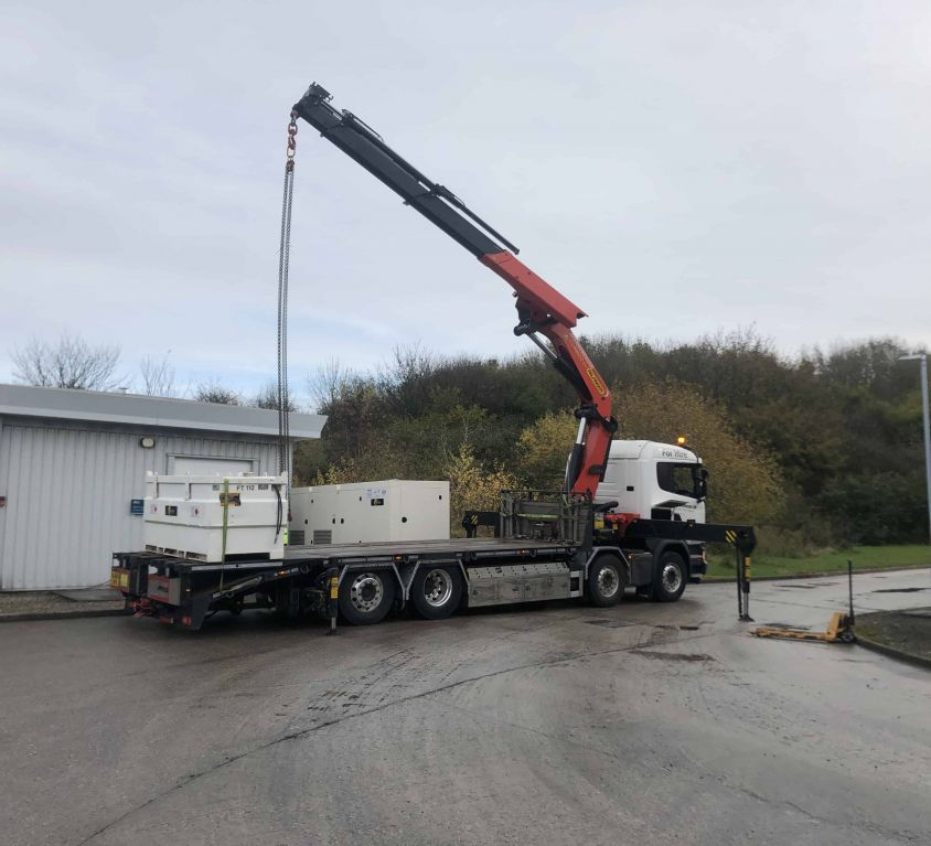 Heavy load lifting – install of a generator in Ellesmere Port