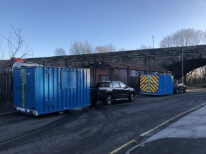 Welfare units collected from Crewe