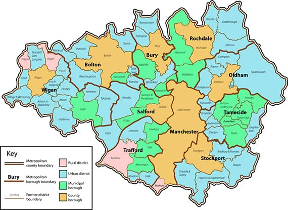 Map of Manchester coverage